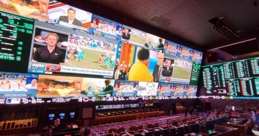 417 Quadratmeter Display von Daktronics in der 'Sportsbook Experience' im Circa Resort & Casino, Las Vegas (Foto: Daktronics)